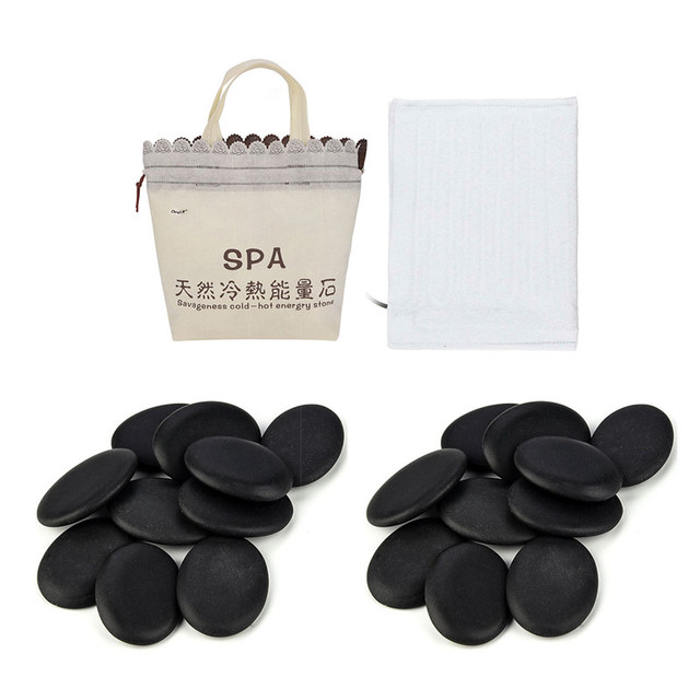 Electric Heating Bag Lava Stone Massager Energy Volcanic Stone Beads Natural Hot Lava Massage Stone SPA Release Physical Tension