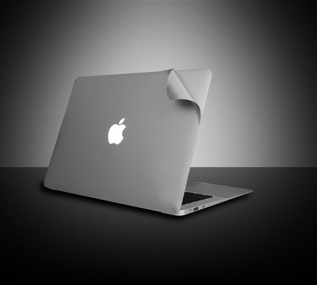 competitive price 91a44 3e3fc UltraTough silver Skins Full Body Protection film for MacBook Pro retina  15.4 inch Notebook protective front+bottom skin cover-in Laptop Skins from  ...