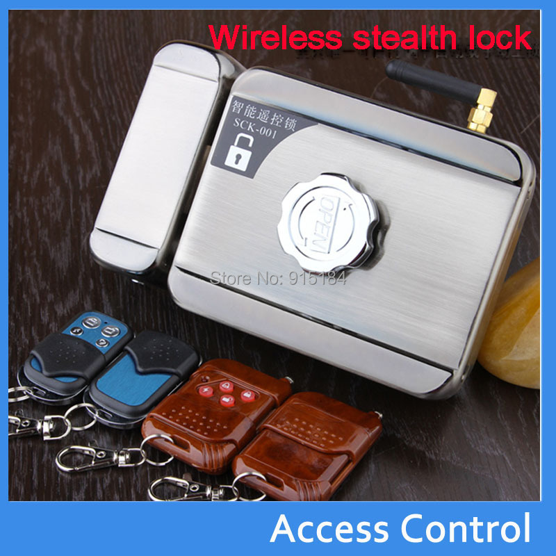 free shipping dhl diy stealth wireless remote control home door locks smart electronic lock 4 pcs remoter