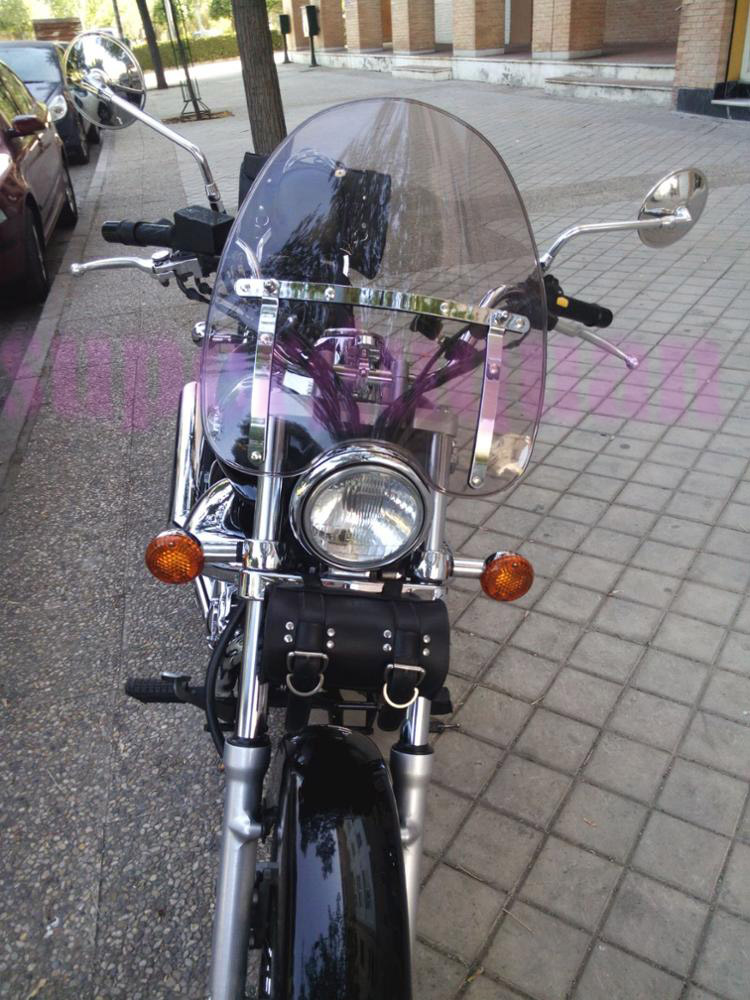 New For Harley Dyna Fat Street Bob Dark Hard Candy Custom FXDF FXDB Transparent Motorcycle Motorbike Windshield Windscreen