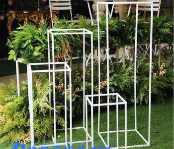 Northern Europe simple black iron art rack display rack clothing shoe rack, wedding decoration d frame rectangle.