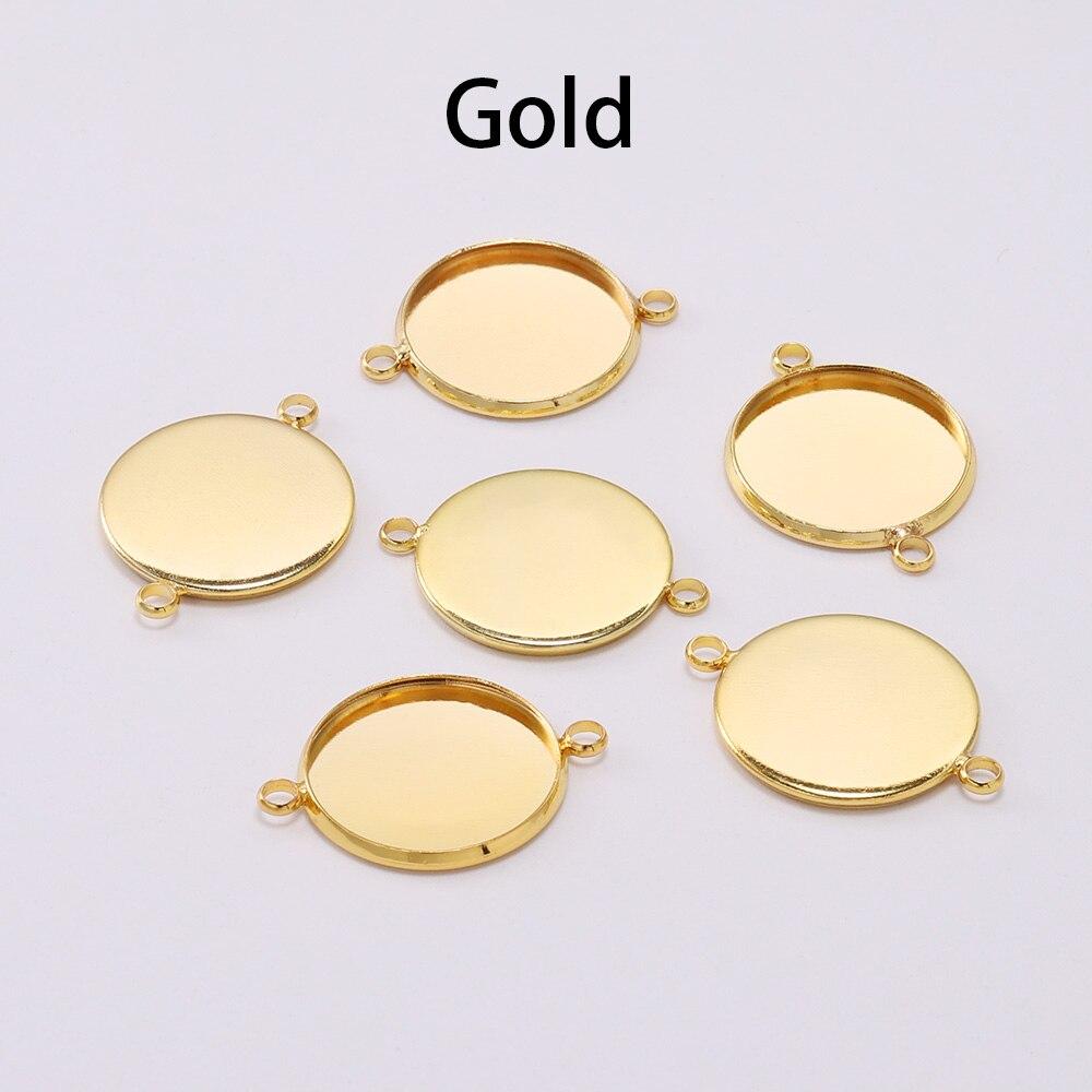 20 шт./лот, 10, 12 мм, кабошон, поднос, оправа, пустая, серебро, золото, браслет, установка, принадлежности для изготовления ювелирных изделий, аксессуары - Цвет: Gold