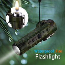 Waterproof Flashlight Cigarette Lighter Car Accessories Electronic Gadgets Usb Charger Adapter Outdoor Camping Light A Fire
