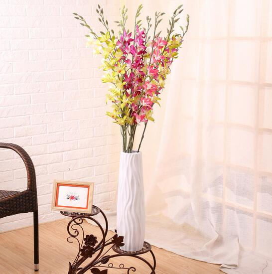 fresh orchid artificial flowers home decorations for studing or