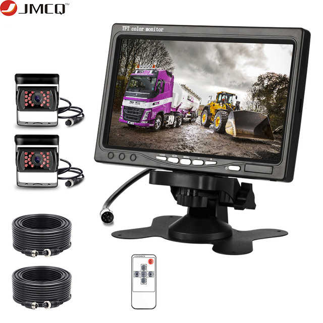 "JMCQ 7 ""Wired Monitor Dell'automobile del HD della macchina fotografica Aviation interfaccia interfacce Multiple Car Rear View monitor Parcheggio Retrovisore Sistema"