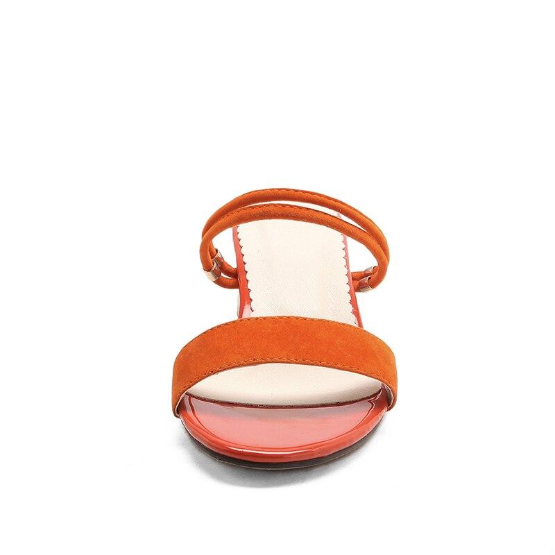 WETKISS/2018 г. новый летний толстый каблук Для женщин тапочки квадратный каблук босоножки на каблуках с открытым носком модная обувь Повседневн...
