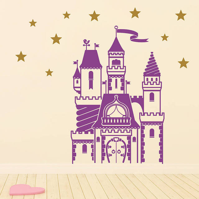 Magical Fairytale Castle Wall Sticker Set For Kids Room Baby Boy ...