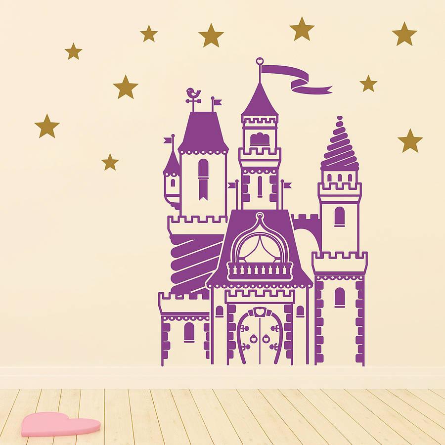 Stickers Muraux Chambre Bébé €9.22 25% de réduction|magique conte de fées château sticker mural ensemble  pour enfants chambre bébé garçon pépinière stickers muraux chambre