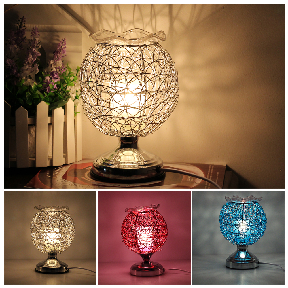 Dimmable Aromatherapy Nest Table Lamp 220V Electric Fragrance Essential Oil Lamp Air Aroma Diffuser Night Light Christmas Decor 1