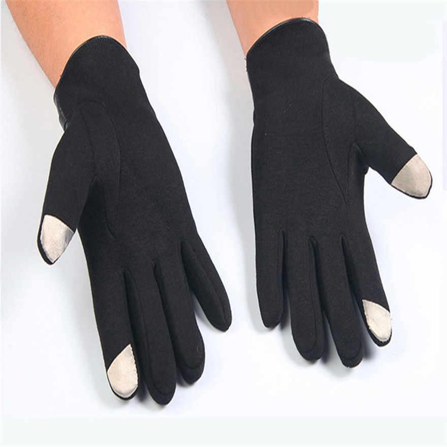 ผู้ชายผู้หญิง unisex Winter Full Finger สมาร์ทโฟนหน้าจอสัมผัสแคชเมียร์ถุงมือถุงมือ **
