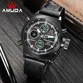 2016 Relojes Hombres Marca de Lujo AMUDA Hora Dual Relojes Deporte Militar Reloj de Cuarzo Relojes Hombres Relojes de Pulsera Relogio masculino