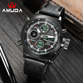 2016 Watches Men Luxury Brand AMUDA Dual Time Watches Sport Military Watch Quartz Watches Men Wristwatches Relogio Masculino