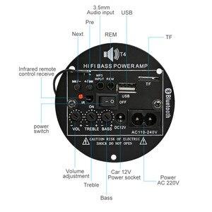Image 2 - AIYIMA 30W Bluetooth Bảng Mạch Khuếch Đại 12V 220V Mono Loa Siêu Trầm Khuếch Đại Hỗ Trợ TF USB FM 5  10inch Bass DIY