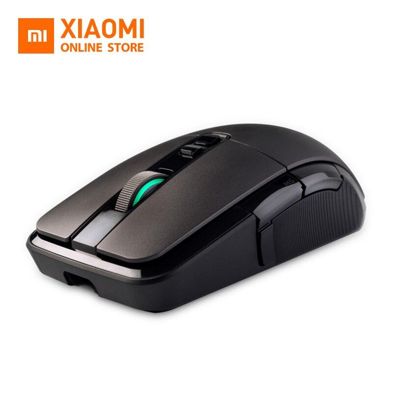 Souris de jeu filaire sans fil/USB Xiaomi originale 50-7200 dpi lumière rvb 6 touches souris optiques programmables