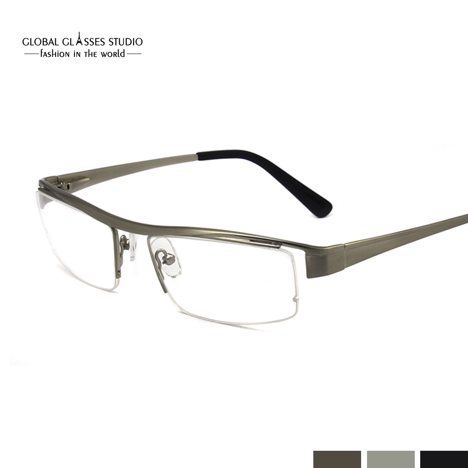 New Fashion Men Simple Frame Glasses design Metal Stainless Steel ...