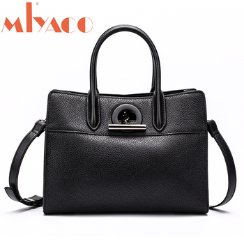 MIYACO Brand Real Leather Handbags Ladies Genuine Leather Tote Hand Bags Female Shoulder Bags For Women 2018 new Bag
