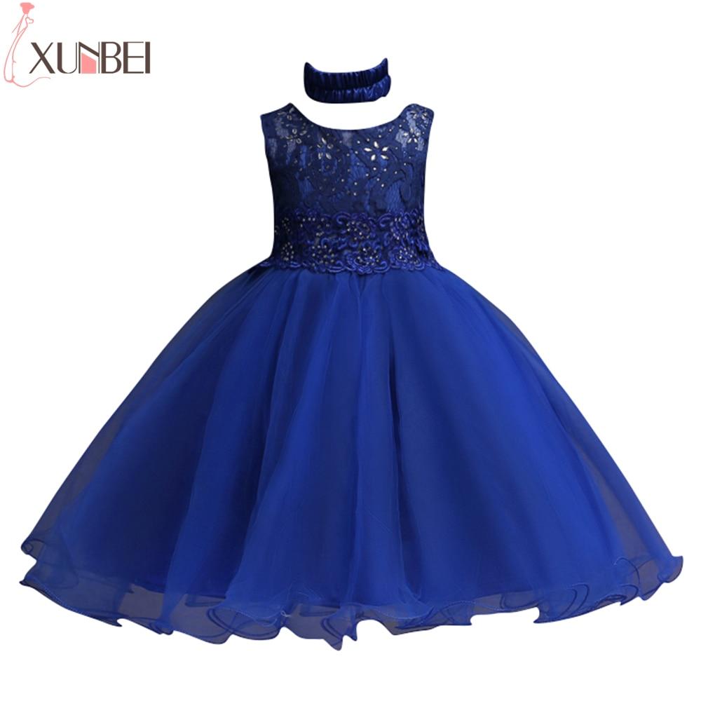 Ball Gown O Neck Sleeveless Flower Girl Dresses For Weddings 2017 Beaded Bow Belt Appliques Lovely First Communion Dress