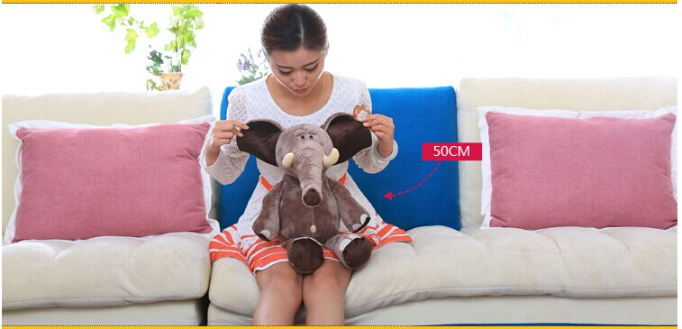 cute plush elephant toy lovely creative elephant doll about 50cm