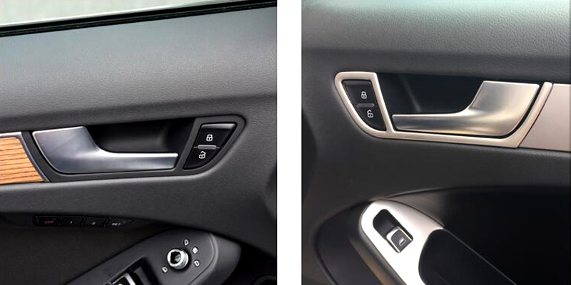 Car Interior Side Door Handle Bowl For Audi A4 B8 2008 2015 In Interior Mouldings From