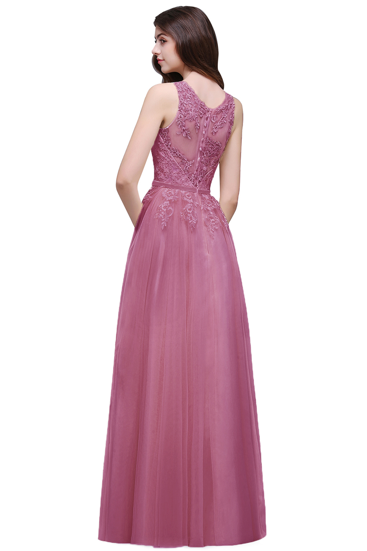 Babyonline en Stock rosa azul real baile vestidos largos 2018 tanque ...