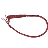 100cm Genuine Bull Leather Hand Made Braided Riding Whips for Horse Racing Equestrian Horse Whip Riding Crop