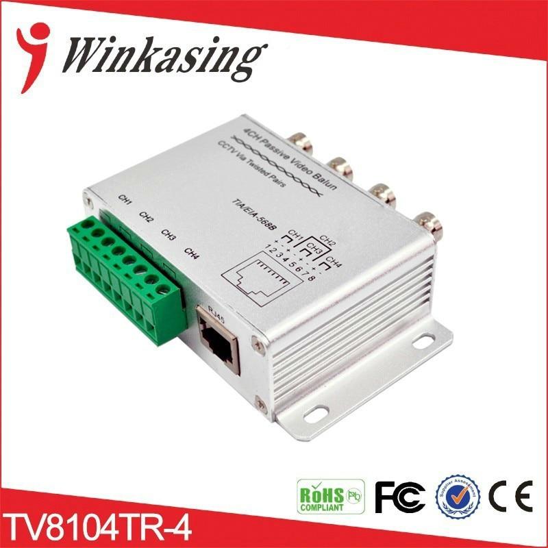 CCTV 4Ch DVR BNC UTP RJ45 Passive Video Balun Camera Cat5 Transceiver Security Video Balun Transmitter 5PCS
