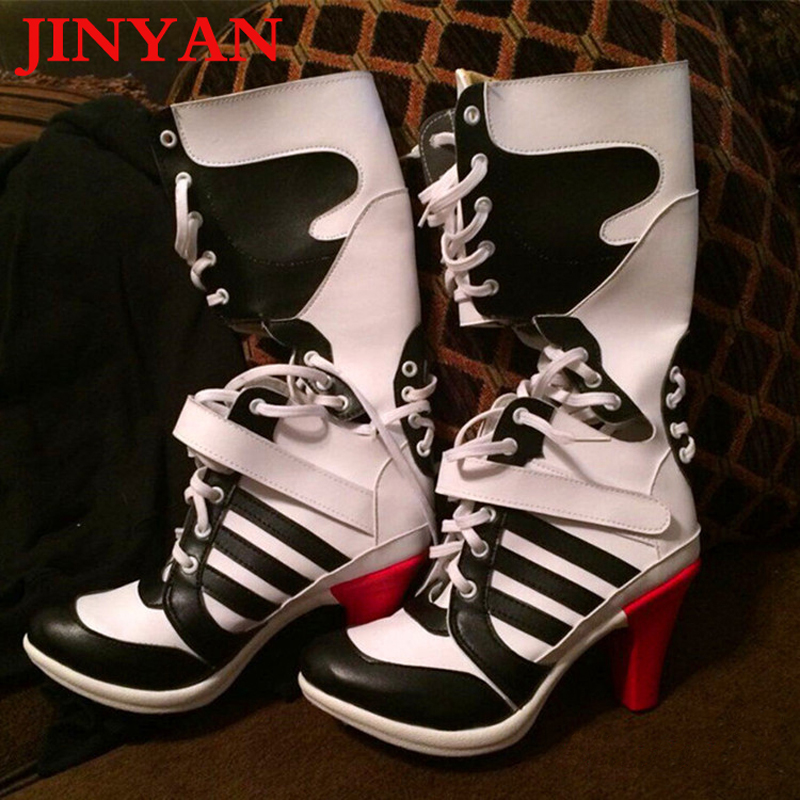 High Country Harley >> 2016 Batman Suicide Squad Harley Quinn Boots Movie Cosplay ...