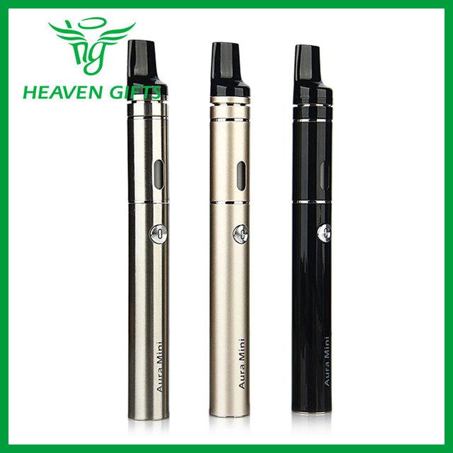 Premium vapeonly aura mini starter kit con 1450 mah capacidad de la batería y vapeonly aura mini atomizador cigarrillo electrónico vape pluma
