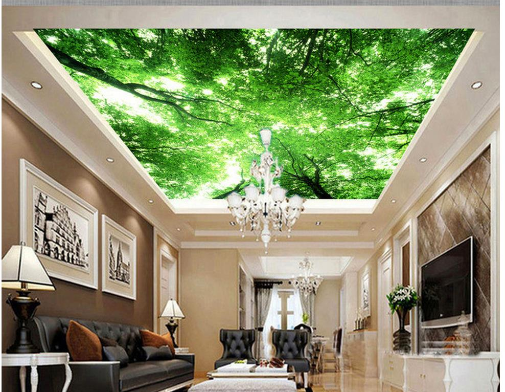 Aliexpress.com : Buy Wallpaper 3d Ceiling Sky Tree Ceiling