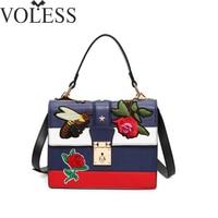Luxury Handbags Women Bags Designer Embroidery Pu Leather Shoulder Bag Female Tote Bag Crossbody Bags For