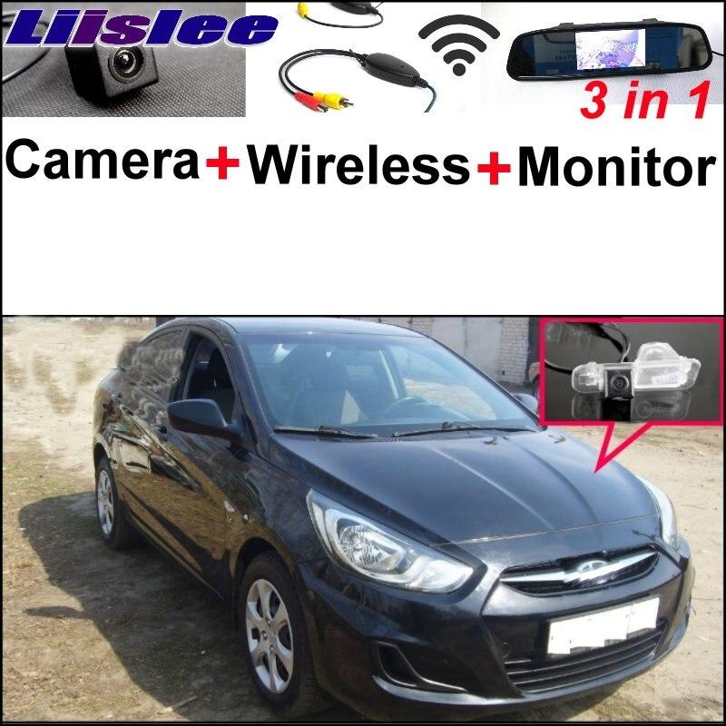Liislee 3 в 1 специальные камеры беспроводной приемник монитор зеркала парковочная система для Hyundai Гранд Авега Солярис седан жидкий верна