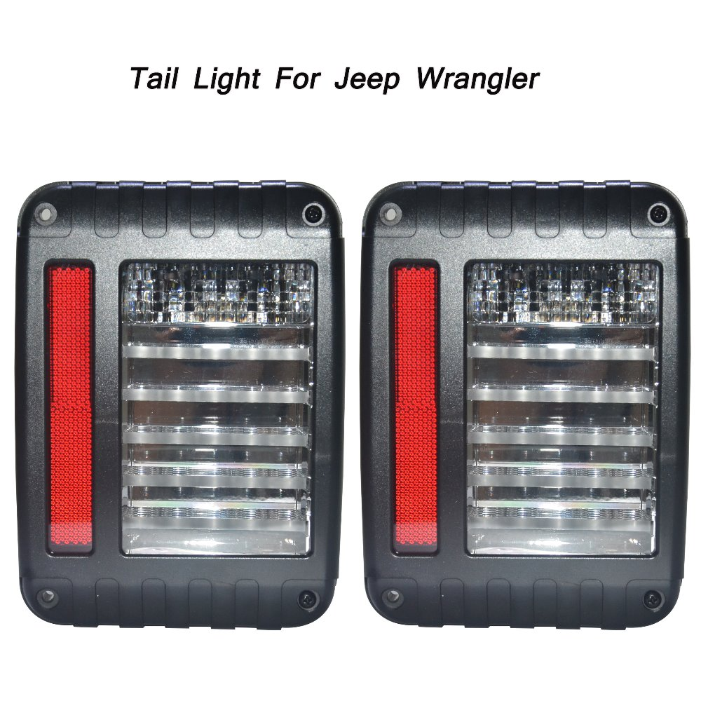 For Jeep Wrangler Off Road JK One Pair European & US Version 2007-2015 LED Taillight Tow Colors for Choose L003 left hand a pillar swith panel pod kit with 4 led switch for jeep wrangler 2007 2015