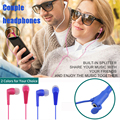 3.5mm portable shares earphone Love couples in-ear earphone adapter for iphone xiaomi huawei + sharing splitter eraphone