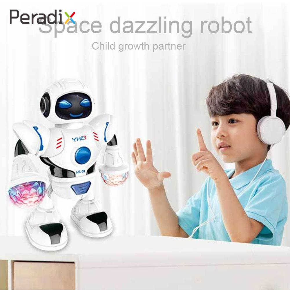 Electronic Pets Electronic Toys 2018 Led Robot Toy Electronic Action Figure Toy Novelty Music Dancing Robot Toys For Chidren Kids Boys Birthday Gift