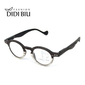 0b4221961e Ronda Multifocal Progresiva gafas de lectura de madera óptico hipermetropía  la presbicia gafas dioptrías + 1,0 a + 3,0 para la vista de HN870