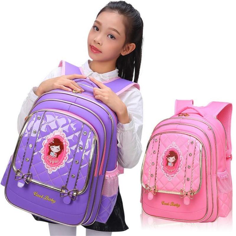 Children's Backpacks 2018 New Cute Princess Big Bowknot Orthopedic Backpack Schoolbag Fashion Backpack For Teenagers Girls