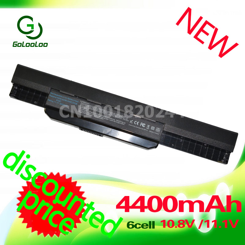 Golooloo 4400mAh Аккумулятор для Asus K53S A32-K53 K53U A43 A53S A53 A53z A53SV K43S K43 K43E K43J K43SV K53t K53SD K53S K53SV x54h