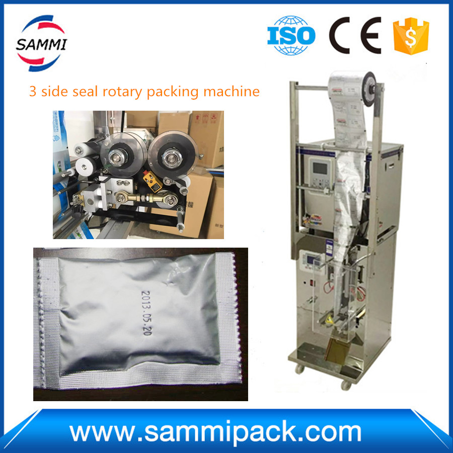 2g to 100g 3 side seal rotary automatic packing machine SMFZ-70A with spare parts, ship by special line, free shipping
