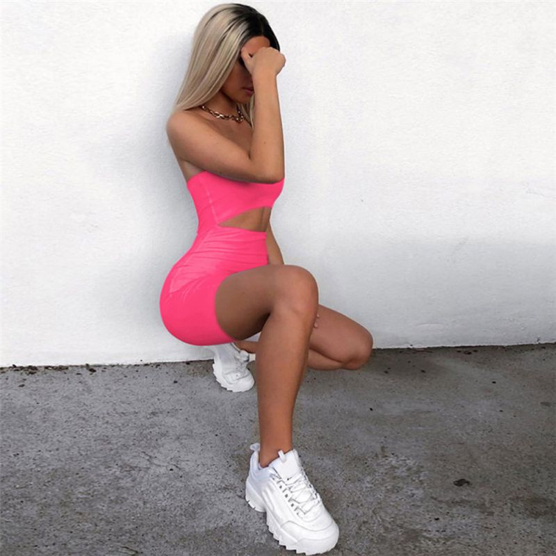 Summer Anti Cellulite Bodysuit Women Backless Jumpsuit Hollow Out Romper High Wait Sexy Off the Shoulder Strtchy Body