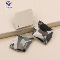 Yanruo 3265コズミックブラックダイヤモンド縫いでラインストーンフラットバックラインストーン結晶縫製ガラスラインストーン石用服
