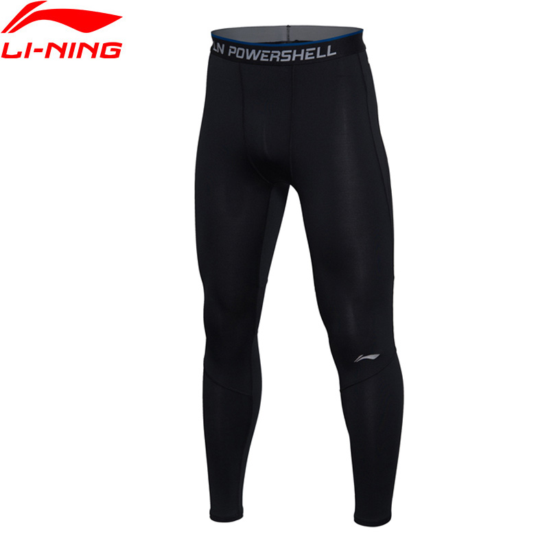 (Clearance)Li-Ning Men's Gym Training Tights Base Layer Pants AT Dry Comfort LiNing Sports Pants AULM033 MKY297(China)