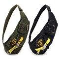 Sling bag Pecho bandolera para hombres mujeres Militar ocasional pequeño Negro Verde 1142