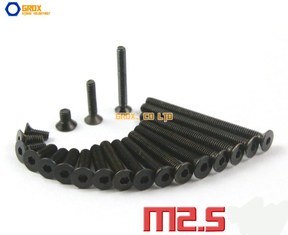 M2.5 Countersunk Socket Allen Bolt Screw 10.9 Grade Alloy Steel m3 hex socket pan head button head allen bolt screw 10 9 grade alloy steel