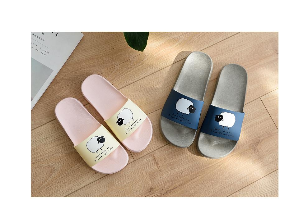 ASIFN Women Slippers EVA Men Slides Couple Cute Sheep Indoor Summer Loves Shoes Zapatos Mujer Flip Flops 33