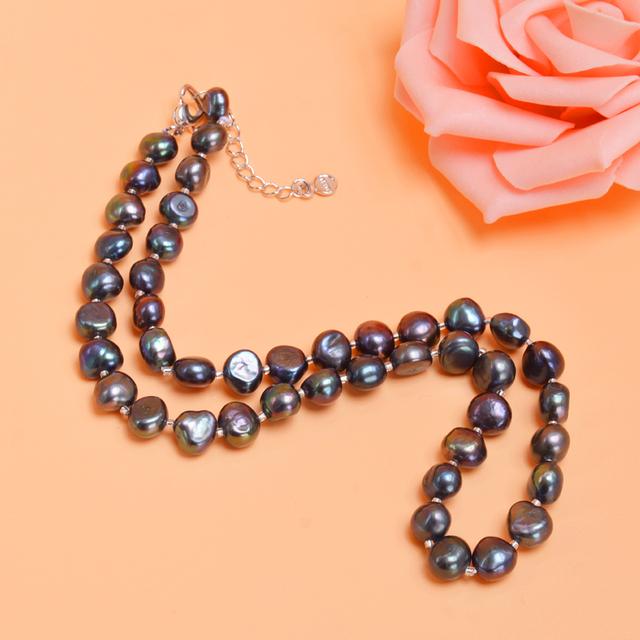 Collar perlas de agua dulce 9-10mm