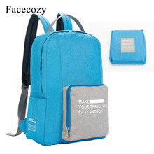 Facecozy 2019 New Unisex Outdoor Hiking Backpack Foldable Climbing Camping Bag Travel Oxford Cloth Men Women Sport Gym Bags