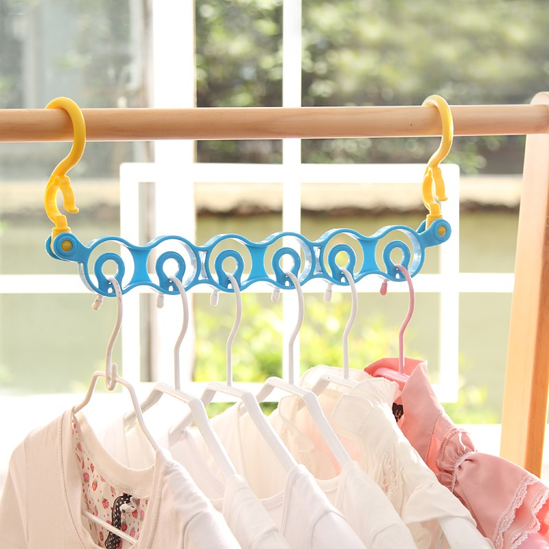 3pcs! Fashion multifunction storage holder hook hanger clothes tie circle organizer space saving space hanger.