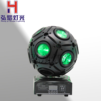 Hongyi Stage Lighting 9x10w RGBW 4IN1 LED Football Moving Head Beam Light Led Dj Disco Stage Ball Light For Dj Party