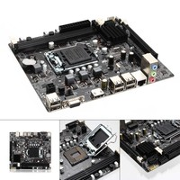 New For H61 Socket LGA 1155 DDR3 Computer Motherboard PCIE Micro ATX Board Support Core I7