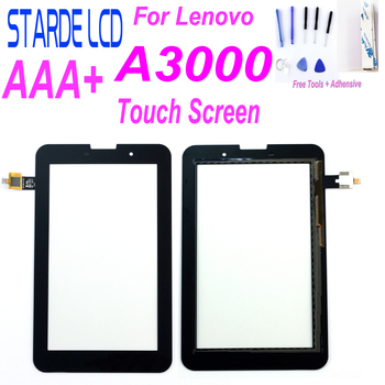 Starde New For Lenovo A3000 A3000-H Replacement Touch Screen Digitizer Glass 7-inch Black with Free Tools and Adhensive new white black 7 inch touch screen for acer iconia one 7 b1 770 k1j7 digitizer replacement free shipping